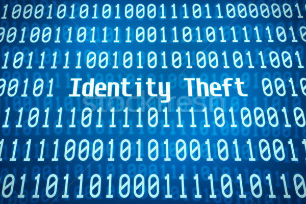 Binary code with the word Identity Theft in the center Stock photo © Zerbor