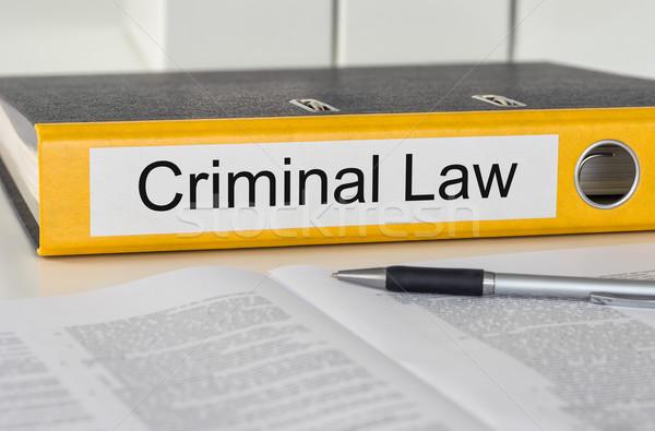 フォルダ ラベル 犯罪者 法 ビジネス 正義 ストックフォト © Zerbor