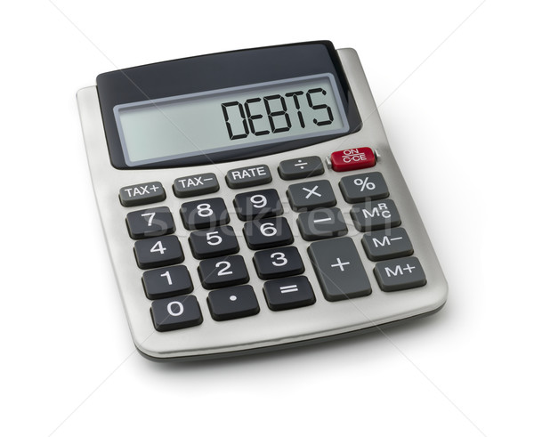 Calculator with the word debts on the display Stock photo © Zerbor