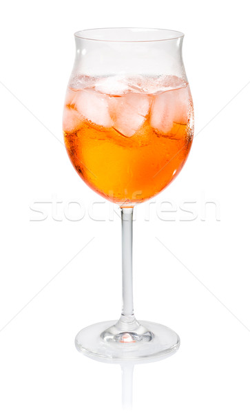 Aperol Spritz in a wine glass Stock photo © Zerbor