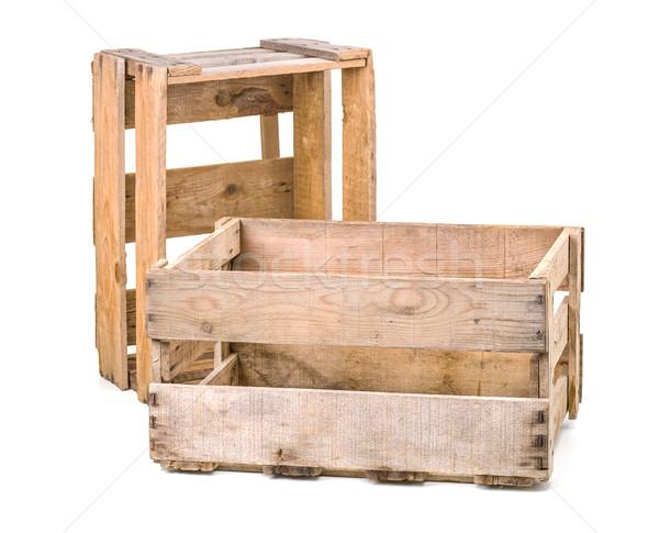 vintage wooden wine crates Stock photo © Zerbor