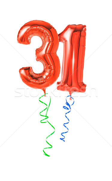 Red balloons with ribbon - Number 31 Stock photo © Zerbor