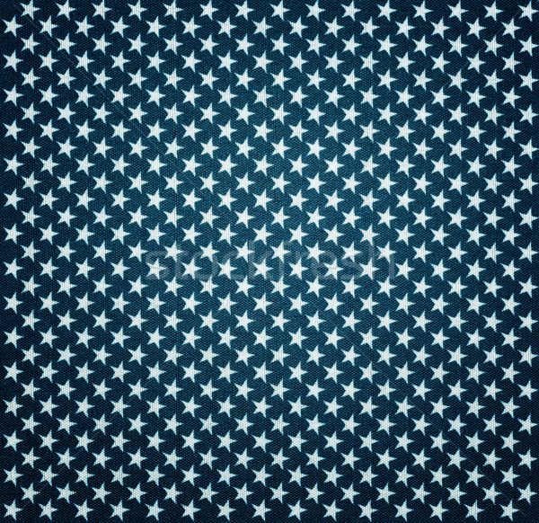 Blue fabric with white stars with vignette effect Stock photo © Zerbor