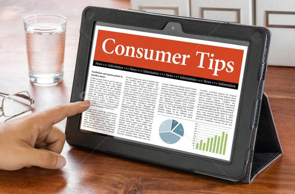 A tablet computer on a desk - Consumer Tips Stock photo © Zerbor