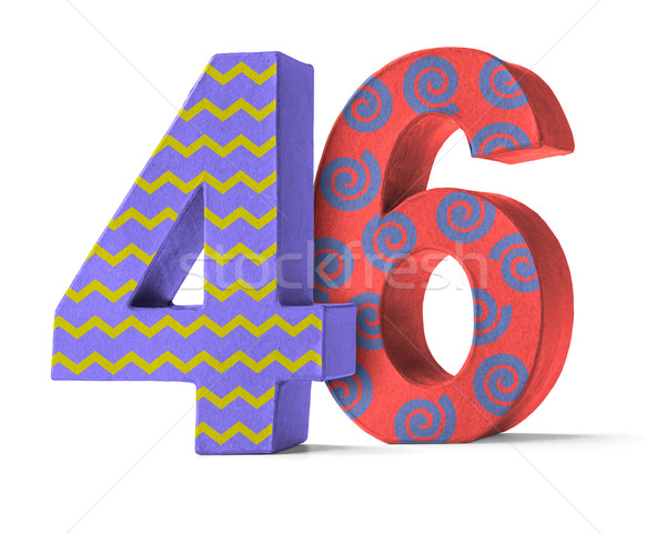 Colorful Paper Mache Number on a white background  - Number 46 Stock photo © Zerbor