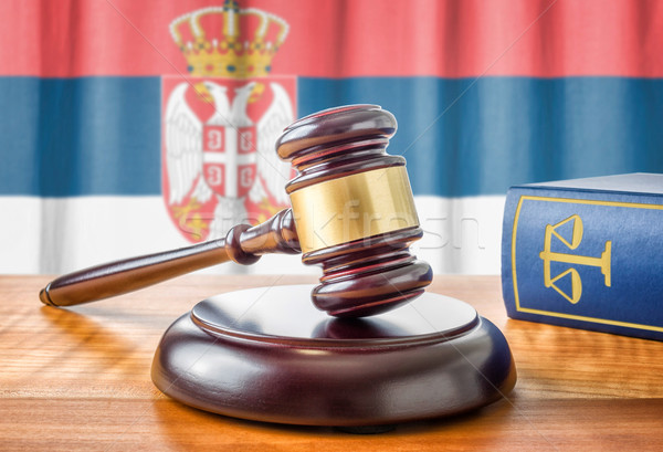 A gavel and a law book - Serbia Stock photo © Zerbor