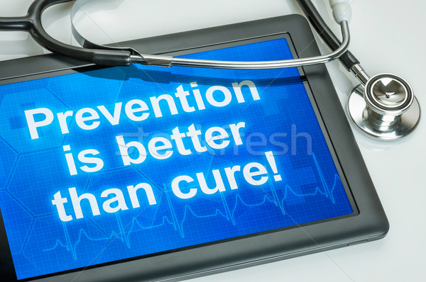 Tablet with the text Prevention is better than cure Stock photo © Zerbor