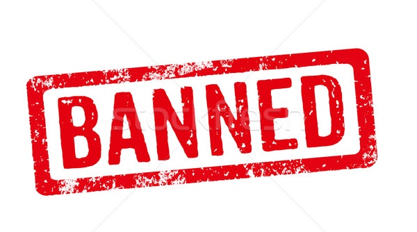 Red stamp on a white background - Banned Stock photo © Zerbor