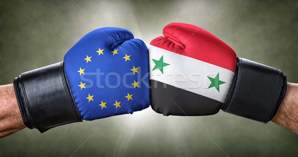 Boksen wedstrijd europese unie Syrië business Stockfoto © Zerbor