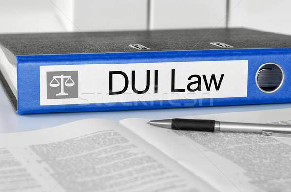 Blue folder with the label DUI Law Stock photo © Zerbor