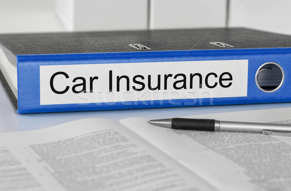 Folder with the label Car Insurance Stock photo © Zerbor