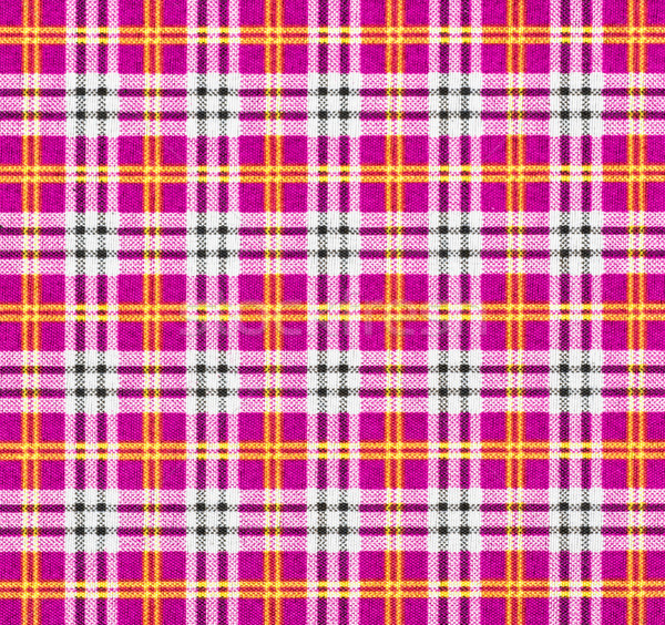 Fabric with a checked pattern in pink tones Stock photo © Zerbor
