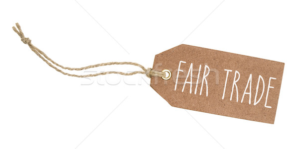 Tag on a white background with the text Fair Trade Stock photo © Zerbor