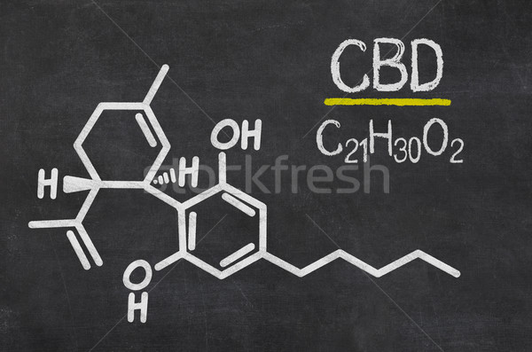 Blackboard with the chemical formula of CBD Stock photo © Zerbor