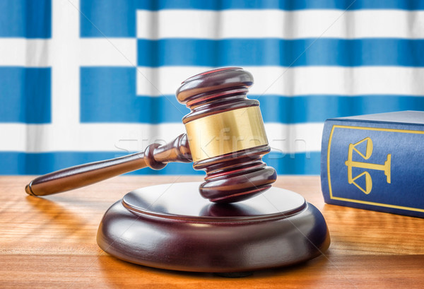 A gavel and a law book - Greece Stock photo © Zerbor