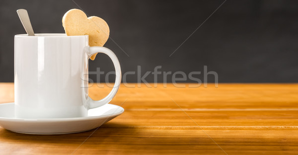 A coffee mug on a dark background Stock photo © Zerbor