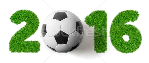 2016 football herbe texture football sport Photo stock © Zerbor