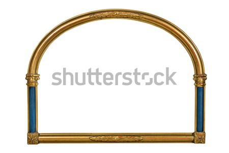 antique golden picture frame with blue pillars Stock photo © Zerbor