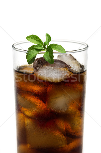 cola in glass with stevia leafs Stock photo © Zerbor