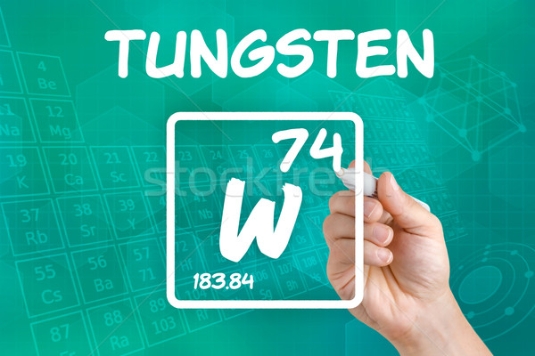 Symbol for the chemical element tungsten Stock photo © Zerbor
