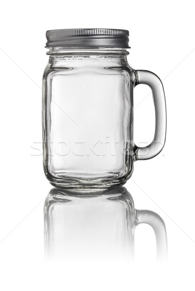 Mason Jar drinking glass with a handle Stock photo © Zerbor