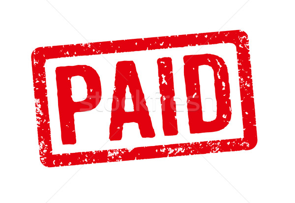 Red stamp on a white background - Paid Stock photo © Zerbor