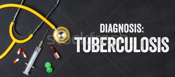 Stethoscope and pharmaceuticals on a blackboard - Tuberculosis Stock photo © Zerbor