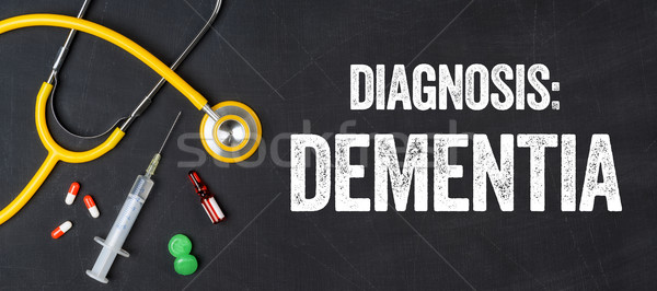 Stetoskop tablicy demencja szpitala muzyka pigułki Zdjęcia stock © Zerbor