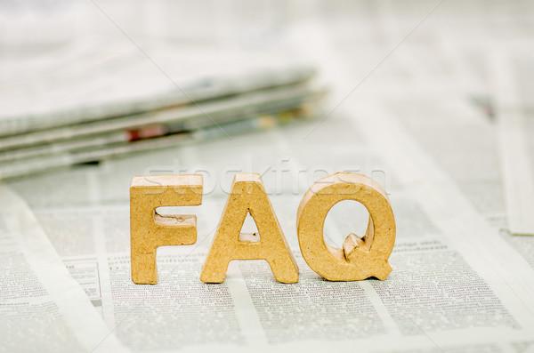 FAQ Stock photo © Zerbor