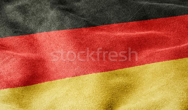 Bandera Alemania fondo signo tejido rojo Foto stock © Zerbor
