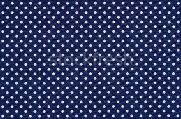 Dark blue fabric with white polka dots Stock photo © Zerbor