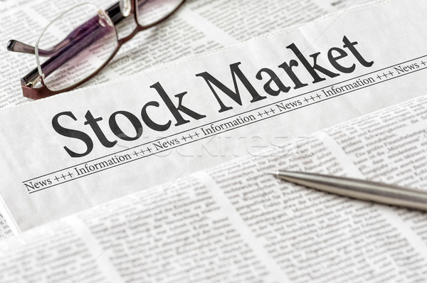 Stock photo: A newspaper with the headline Stock Market