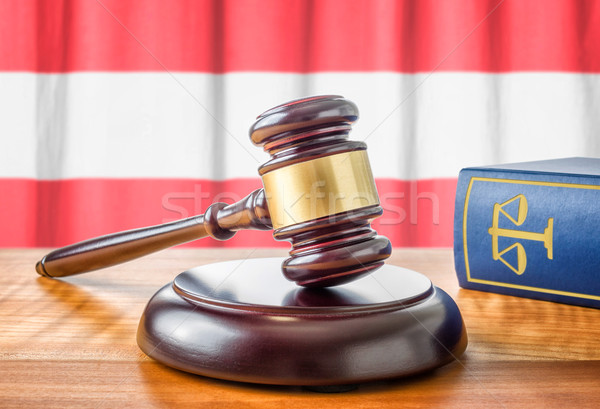 A gavel and a law book - Austria Stock photo © Zerbor