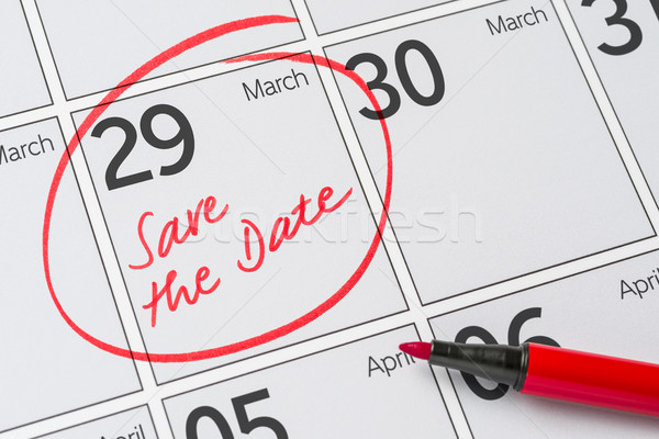 Save the Date written on a calendar - March 29 Stock photo © Zerbor