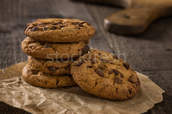 Close up of several chocolate cookies Stock photo © Zerbor