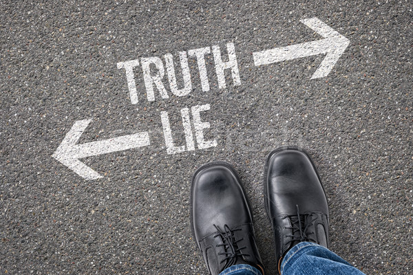 Decision at a crossroad - Truth or Lie Stock photo © Zerbor