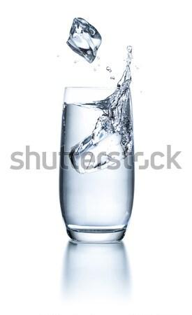 üveg víz jégkockák csobbanás csepp tiszta Stock fotó © Zerbor