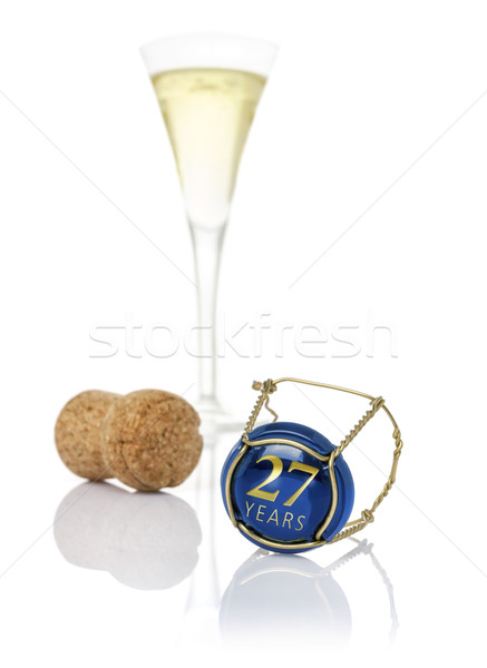 Champagne cap with the inscription 27 years Stock photo © Zerbor