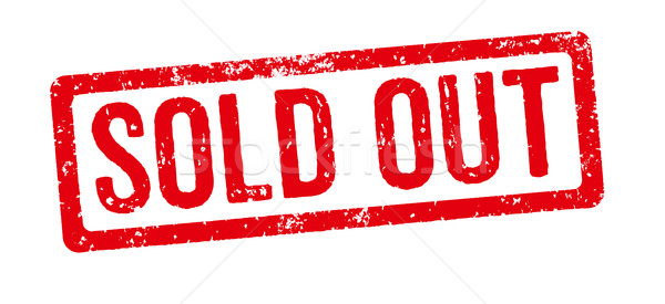 Stock photo: Red stamp on a white background - Sold out