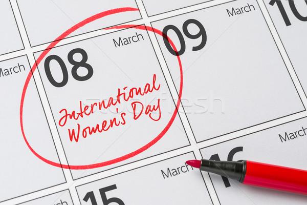 международных Женский день бизнеса женщины пер ноутбук Сток-фото © Zerbor