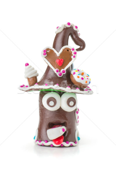 Handmade modeling clay figure with sweets Stock photo © Zerbor