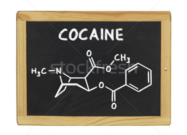 chemical formula of cocaine on a blackboard Stock photo © Zerbor