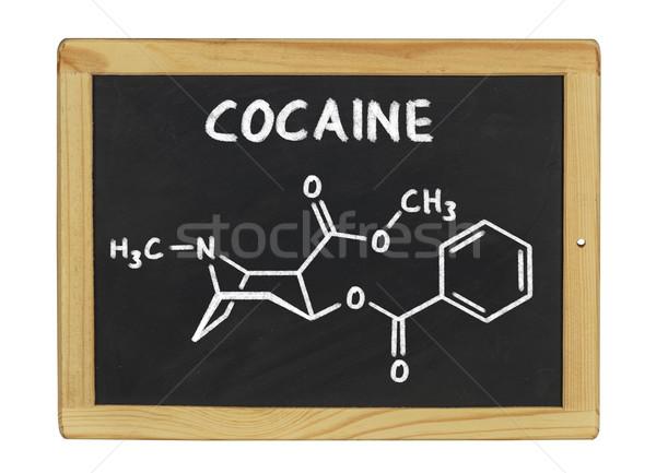 Químico fórmula cocaína lousa escolas quadro Foto stock © Zerbor