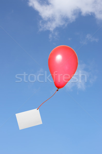 red balloon with greeting card in the sky Stock photo © Zerbor