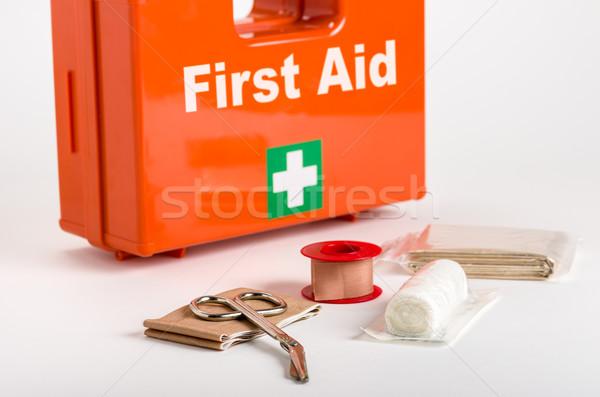 Photo stock: Premiers · soins · pansement · matériel · médicaux · signe