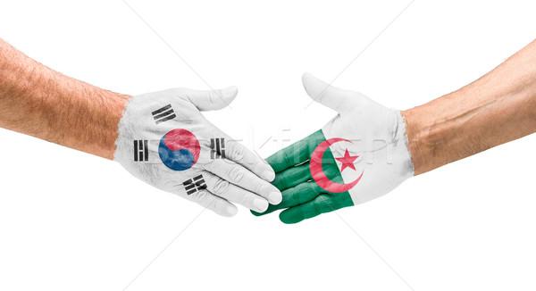 рукопожатие Южная Корея Алжир стороны заседание Мир Сток-фото © Zerbor
