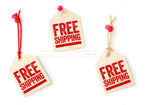 Collection of tags with the text Free shipping Stock photo © Zerbor