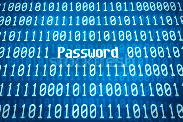 Binärcode Wort Kennwort Zentrum abstrakten Sicherheit Stock foto © Zerbor