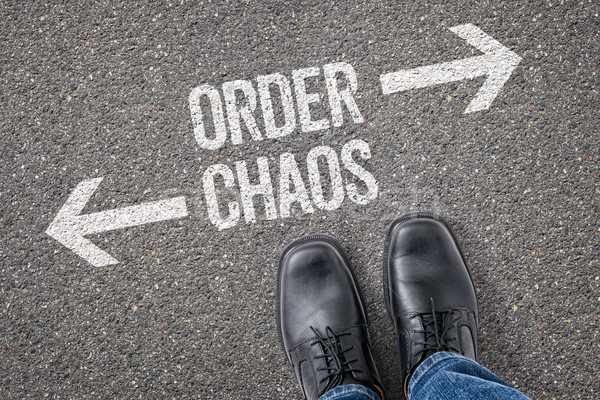 Decision at a crossroad - Order or Chaos Stock photo © Zerbor
