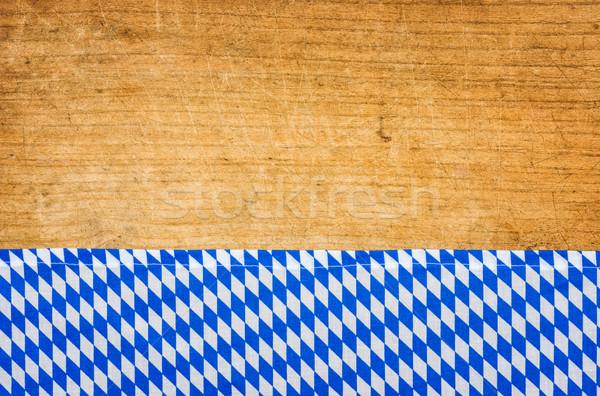 деревенский скатерть дизайна таблице синий Сток-фото © Zerbor